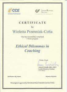 certyfikat ETYKA
